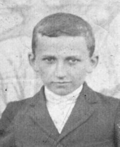 Maxence Jeandot vers ses 14 ans, seule photo disponible